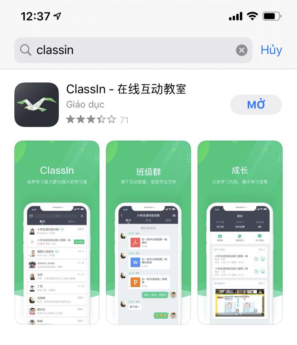 tải ứng dụng classin